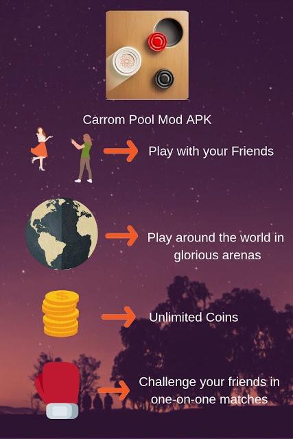 Carrom Pool Mod Apk 1 0 2 Unlimited Tickets Free Download